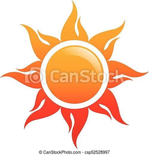 logotipo, sole, vettore, icona - csp52528997