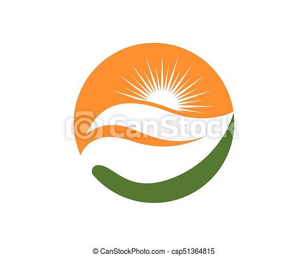logotipo, sole, vettore, icona - csp51364815
