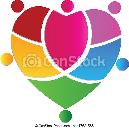 logotipo, squadra, persone, creativo, cuore - csp17621588
