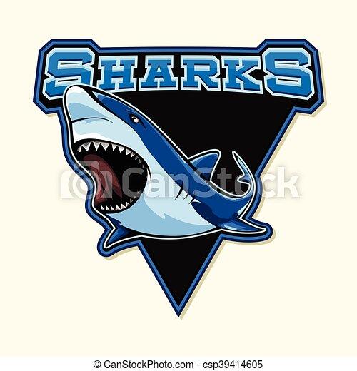 Logotipo squalo disegno illustrazione for Disegno squalo