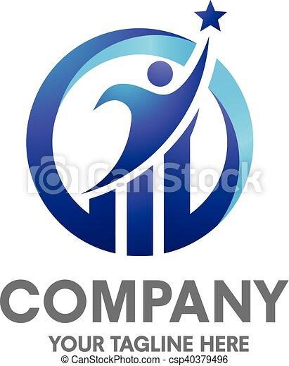 logotipo, sucesso, negócio - csp40379496