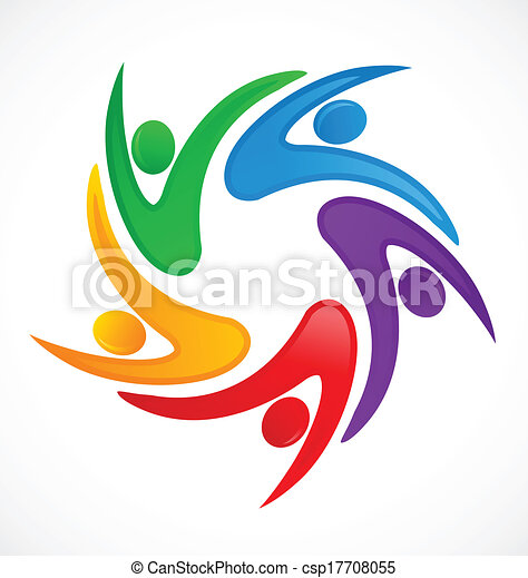 logotipo, swooshes, trabalho equipe - csp17708055