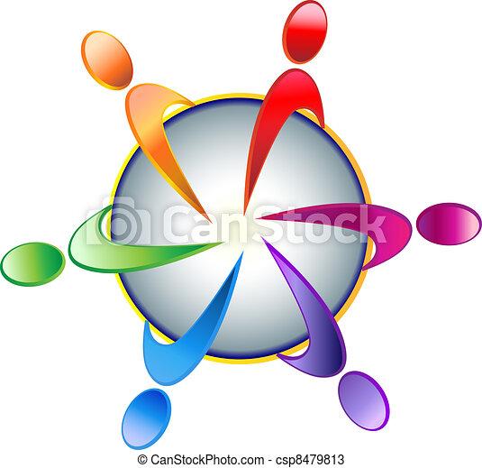 Logo comunitario de trabajo en equipo - csp8479813