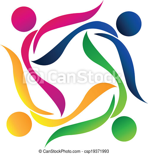 logotipo, trabalho equipe, pessoas - csp19371993