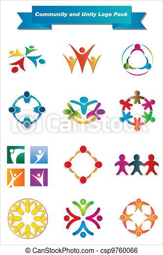 logotipo, unidade, comunidade, pacote - csp9760066