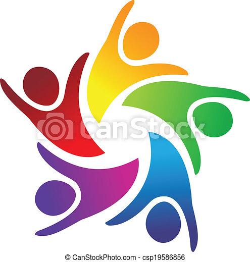 logotipo, unidade, trabalho equipe, pessoas - csp19586856
