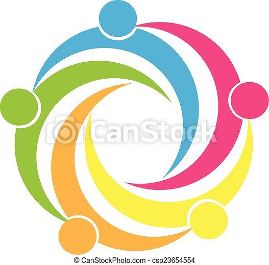 logotipo, unidade, trabalho equipe, pessoas - csp23654554