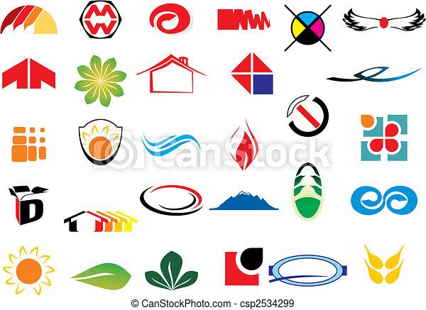 Elementos de logotipo Vector - csp2534299
