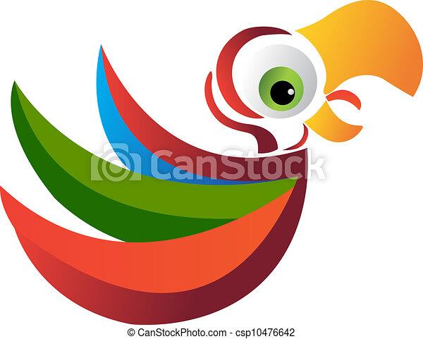 Vector de logo de loro - csp10476642