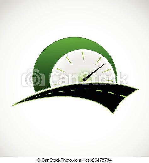 logotipo, velocità, strada, contachilometri - csp26478734