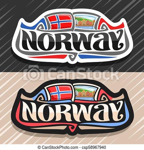 logotipo, vetorial, noruega - csp58967940