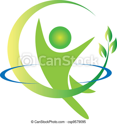 logotipo, vetorial, saúde, natureza - csp9579095