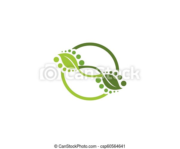 logotipo, vettore, ecologia, natura, elemento - csp60564641
