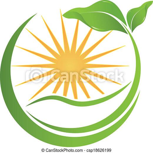 logotipo, vettore, salute, natura - csp18626199