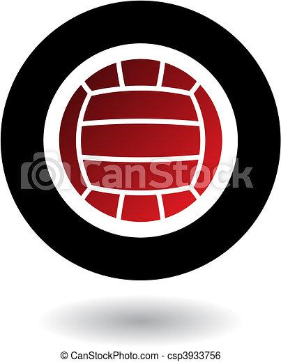 logotipo, voleibol - csp3933756