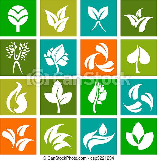 Colección de iconos naturales y logos - 6 - csp3221234