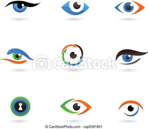 logotipos, olho - csp5391801