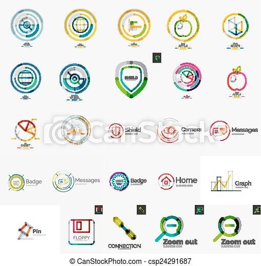 Un conjunto de varios logos de la compañía universal - csp24291687