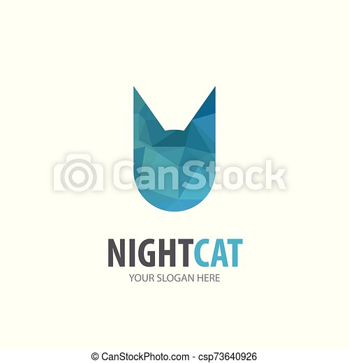 logotype, simple, conception, logo, idée, chat, business, company. - csp73640926