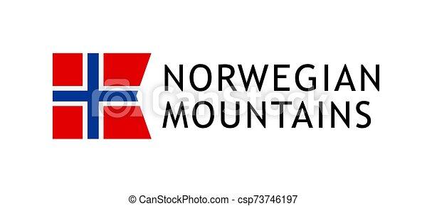 Logotype template for tours to Norwegian Mountains - csp73746197