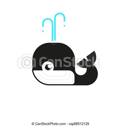 Logotype Whale, Logo Vector For Logistic, Delivery, Freedom, Consulting, Vector - csp68512129