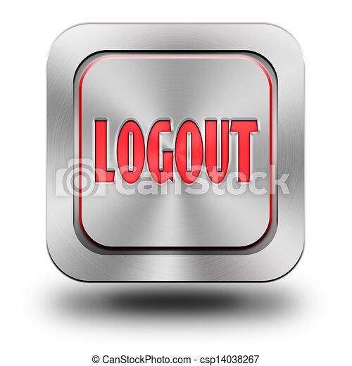 Logout aluminum glossy icon - csp14038267