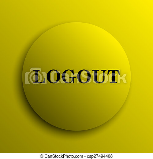 Logout icon - csp27494408
