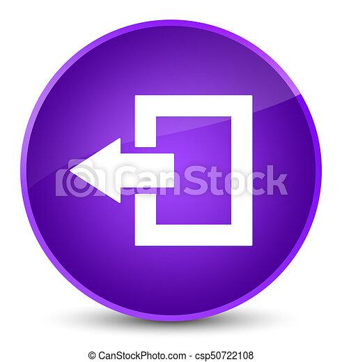 Logout icon elegant purple round button - csp50722108