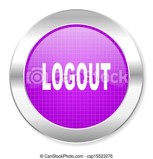 logout icon - csp15523276