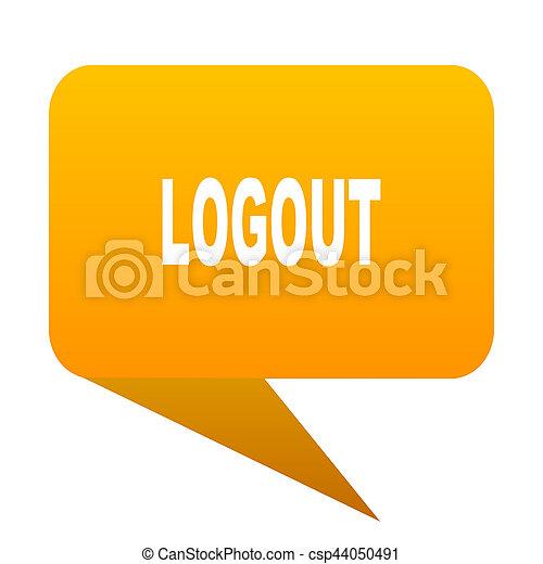 logout orange bulb web icon isolated. - csp44050491