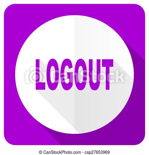 logout pink flat icon - csp27653969