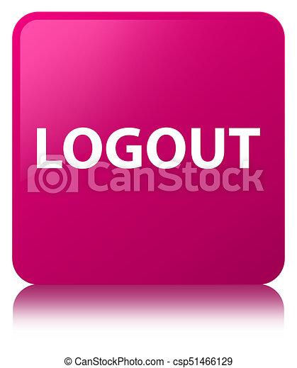 Logout pink square button - csp51466129
