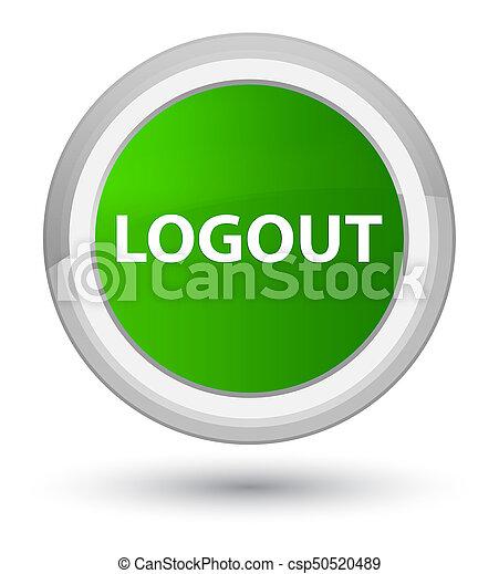 Logout prime green round button - csp50520489