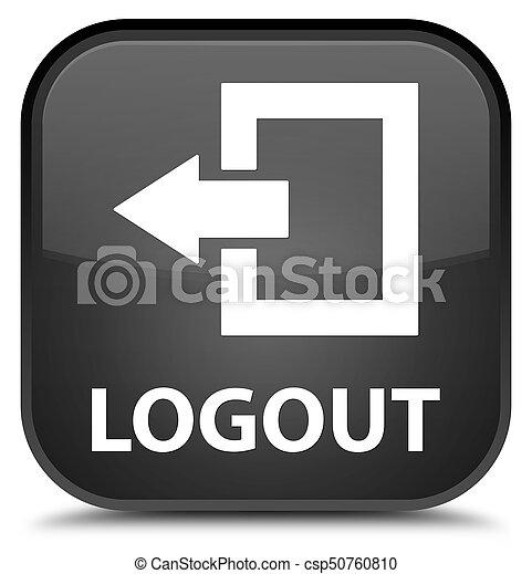 Logout special black square button - csp50760810