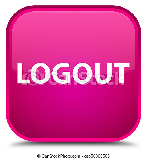 Logout special pink square button - csp50068508