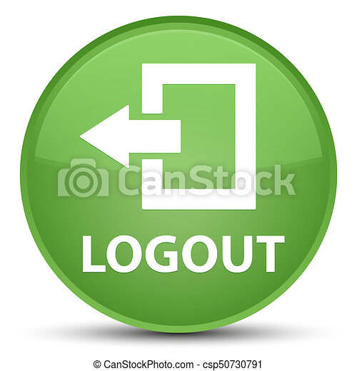 Logout special soft green round button - csp50730791