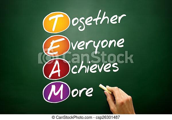 Todos juntos consiguen más - csp26301487