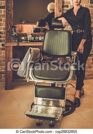loja, barbeiro, hairstylist - csp28832855