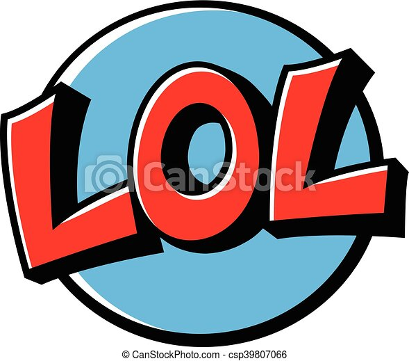 lol cartoon lettering lol laugh out loud cartoon lettering clip art rh canstockphoto com lol clip art images lol clipart free