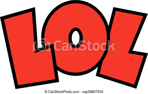 lol cartoon lettering lol laugh out loud cartoon lettering vectors rh canstockphoto com lol clip art images lol surprise clipart