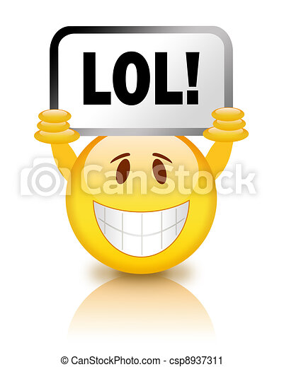 lol smiley on white background rh canstockphoto com lol clipart free lol clipart png