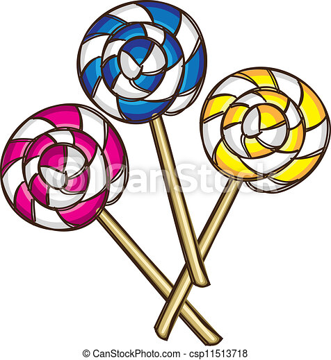 Lollipop doodle - csp11513718
