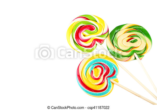 Lollipops isolated on white - csp41187022