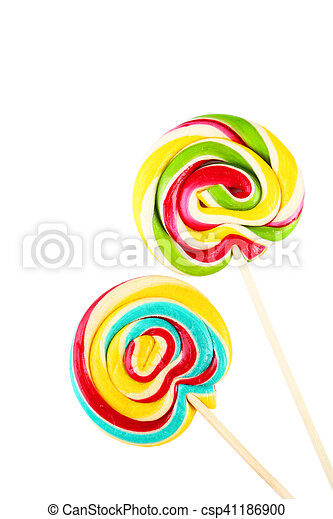 Lollipops isolated on white - csp41186900
