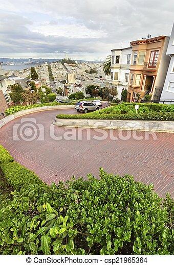 Lombard Street, San Francisco, California - csp21965364
