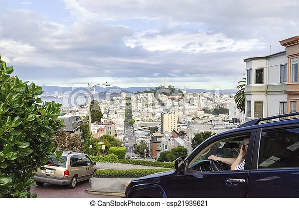Lombard Street, San Francisco, California - csp21939621