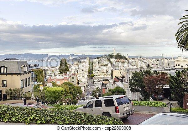 Lombard Street, San Francisco, California - csp22893008