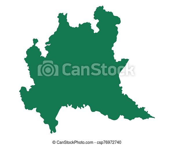 Cartina Lombardia Da Stampare.Lombardia Mappa Canstock