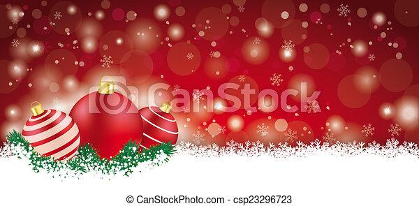 Lon Red Christmas Card - csp23296723