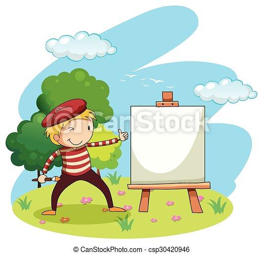 Pintura artística en lienzo - csp30420946